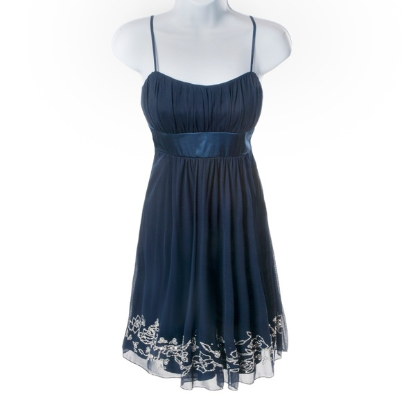 City Triangles Dresses & Skirts - City Triangles Dress Sheer Blue Sequins - NWT - S